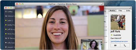 HipChat 1 on 1 video chat